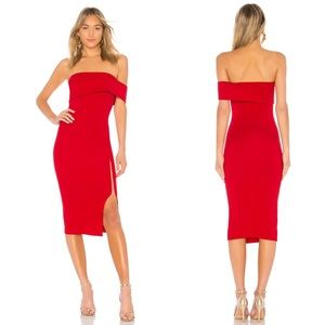 Michael Costello x REVOLVE Audrey Dress in Red NWT